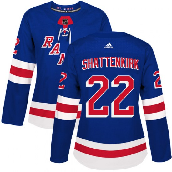 Adidas Kevin Shattenkirk New York Rangers Women's Authentic Home Jersey - Royal Blue