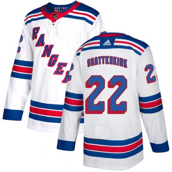 Adidas Kevin Shattenkirk New York Rangers Youth Authentic Away Jersey - White