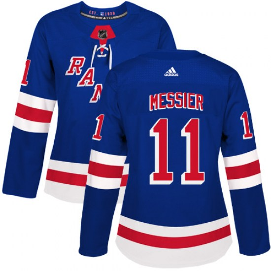 Adidas Mark Messier New York Rangers Women's Premier Home Jersey - Royal Blue