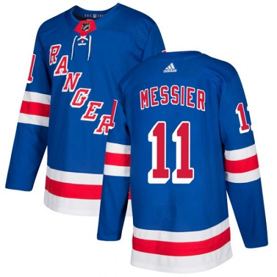 Adidas Mark Messier New York Rangers Youth Authentic Home Jersey - Royal Blue