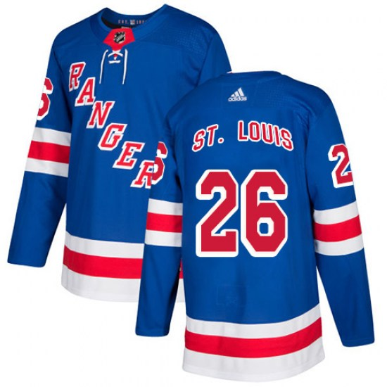 Adidas Martin St. Louis New York Rangers Youth Authentic Home Jersey - Royal Blue