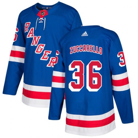 Adidas Mats Zuccarello New York Rangers Youth Premier Home Jersey - Royal Blue