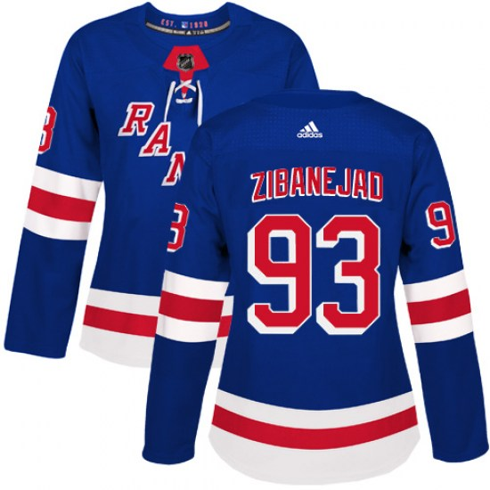 Adidas Mika Zibanejad New York Rangers Women's Authentic Home Jersey - Royal Blue
