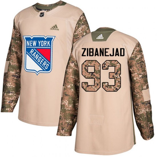 Adidas Mika Zibanejad New York Rangers Youth Premier Away Jersey - White