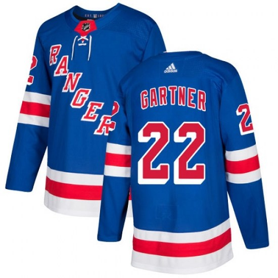 Adidas Mike Gartner New York Rangers Youth Authentic Home Jersey - Royal Blue