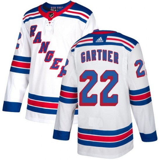 Adidas Mike Gartner New York Rangers Youth Authentic Away Jersey - White