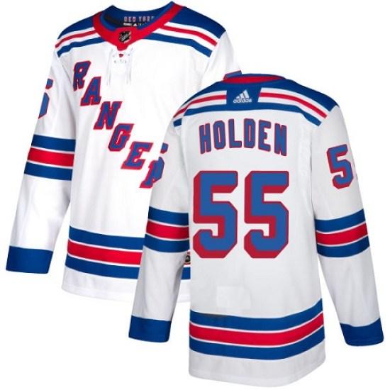 Adidas Nick Holden New York Rangers Women's Authentic Away Jersey - White