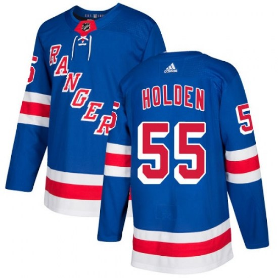 Adidas Nick Holden New York Rangers Youth Authentic Home Jersey - Royal Blue