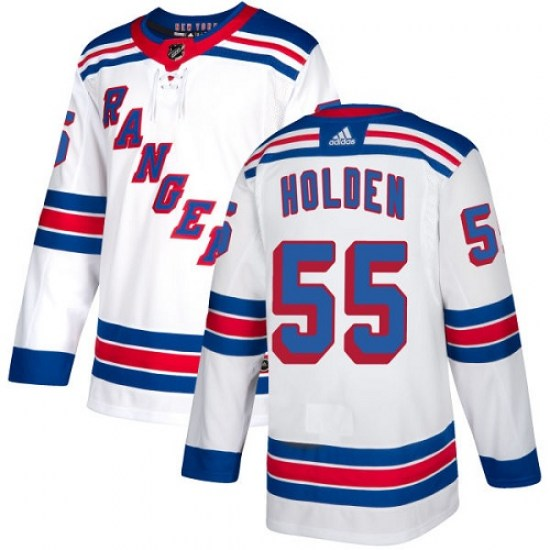 Adidas Nick Holden New York Rangers Youth Authentic Away Jersey - White