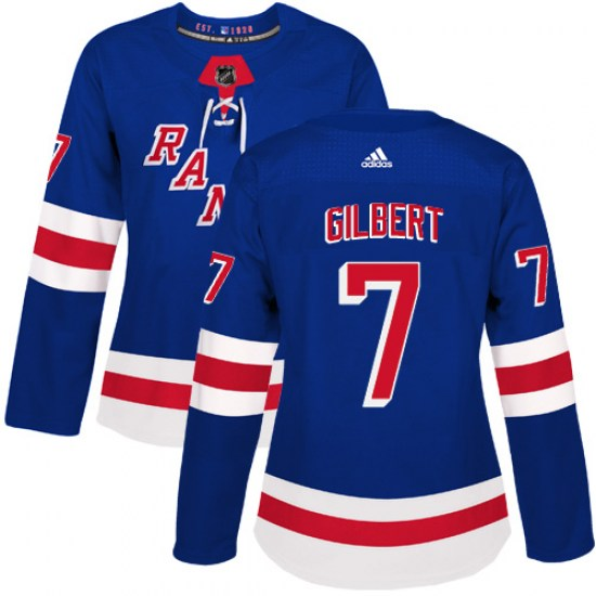 Adidas Rod Gilbert New York Rangers Women's Authentic Home Jersey - Royal Blue