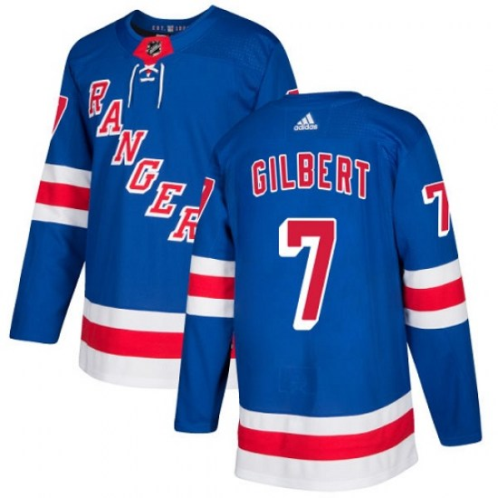 Adidas Rod Gilbert New York Rangers Youth Premier Home Jersey - Royal Blue