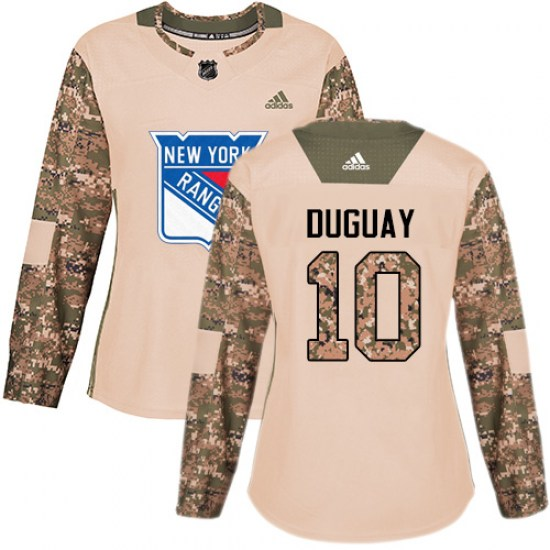 Adidas Ron Duguay New York Rangers Women's Premier Away Jersey - White