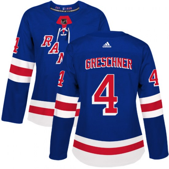 Adidas Ron Greschner New York Rangers Women's Authentic Home Jersey - Royal Blue