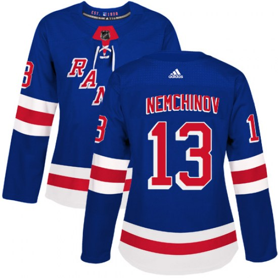 Adidas Sergei Nemchinov New York Rangers Women's Authentic Home Jersey - Royal Blue