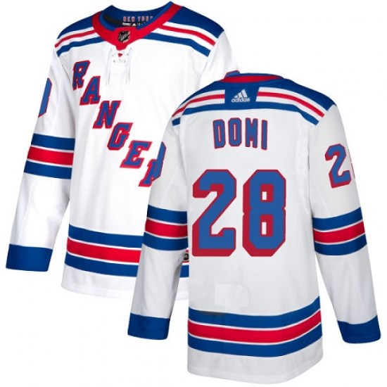 Adidas Tie Domi New York Rangers Youth Authentic Away Jersey - White