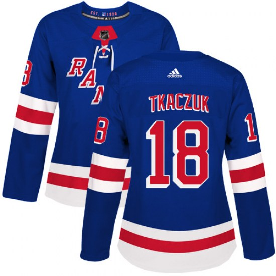 Adidas Walt Tkaczuk New York Rangers Women's Authentic Home Jersey - Royal Blue