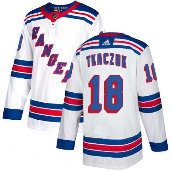 Adidas Walt Tkaczuk New York Rangers Youth Authentic Away Jersey - White