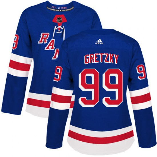 Adidas Wayne Gretzky New York Rangers Women's Authentic Home Jersey - Royal Blue