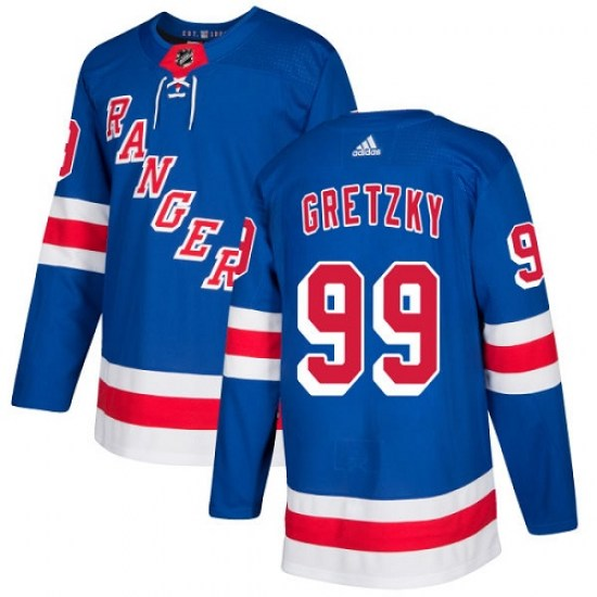 Adidas Wayne Gretzky New York Rangers Youth Authentic Home Jersey - Royal Blue