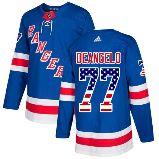 Adidas Anthony DeAngelo New York Rangers Authentic USA Flag Fashion Jersey - Royal Blue