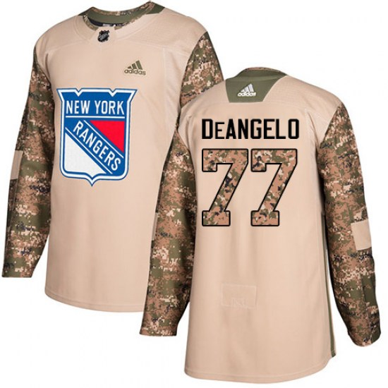 Adidas Anthony DeAngelo New York Rangers Authentic Veterans Day Practice Jersey - Camo