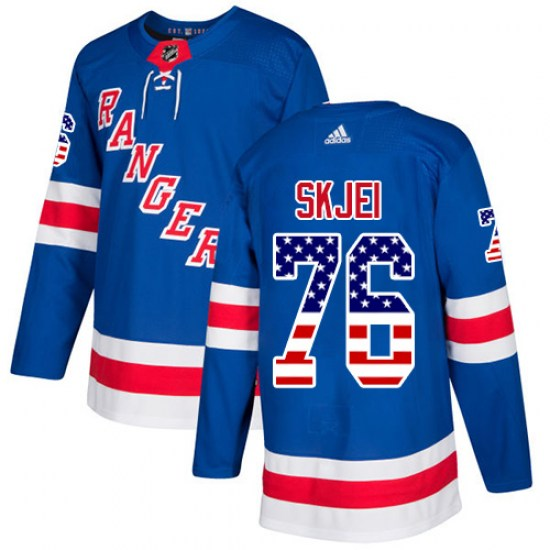 Adidas Brady Skjei New York Rangers Authentic USA Flag Fashion Jersey - Royal Blue