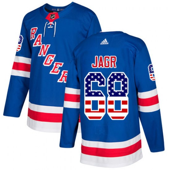 Adidas Jaromir Jagr New York Rangers Youth Authentic USA Flag Fashion Jersey - Royal Blue