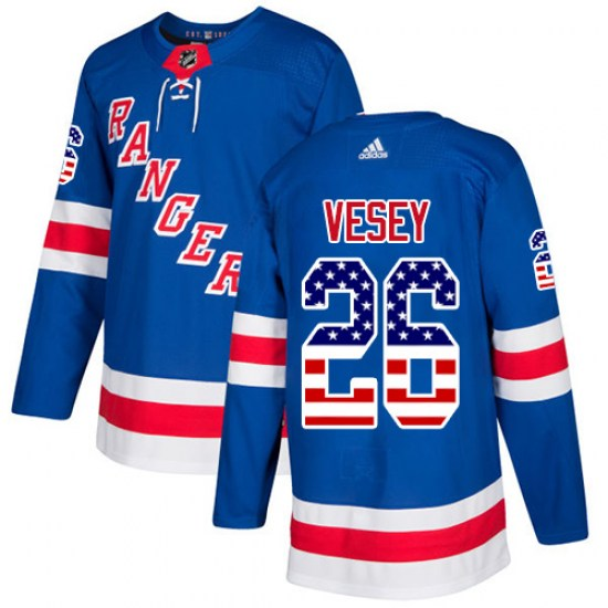 Adidas Jimmy Vesey New York Rangers Authentic USA Flag Fashion Jersey - Royal Blue