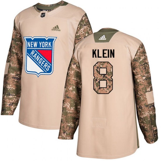 Adidas Kevin Klein New York Rangers Youth Authentic Veterans Day Practice Jersey - Camo