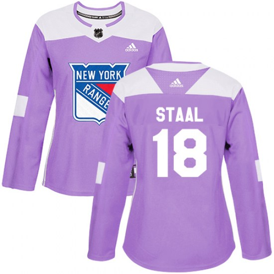 Adidas Marc Staal New York Rangers Women's Authentic Fights Cancer Practice Jersey - Purple