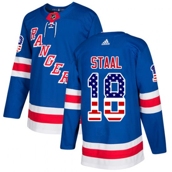 Adidas Marc Staal New York Rangers Youth Authentic USA Flag Fashion Jersey - Royal Blue
