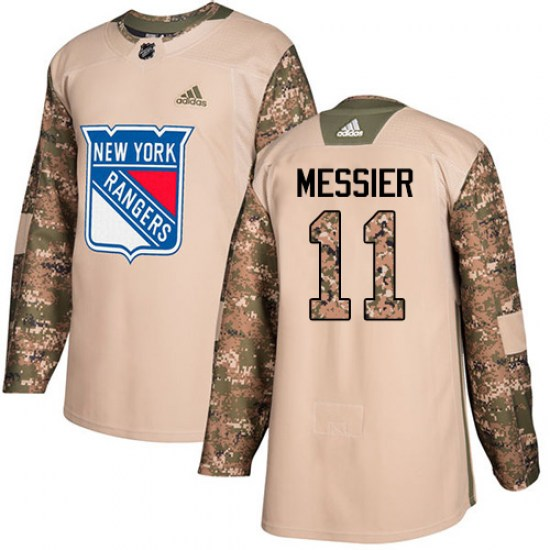 Adidas Mark Messier New York Rangers Youth Authentic Veterans Day Practice Jersey - Camo