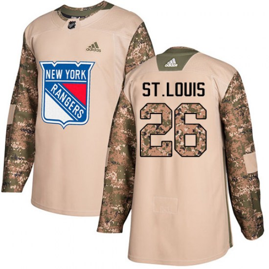 Adidas Martin St. Louis New York Rangers Youth Authentic Veterans Day Practice Jersey - Camo