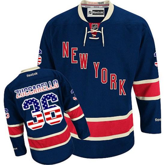 Reebok Mats Zuccarello New York Rangers Premier USA Flag Fashion Jersey - Navy Blue