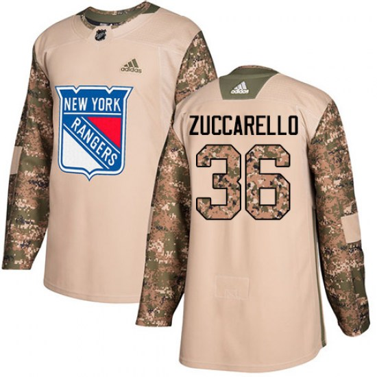 Adidas Mats Zuccarello New York Rangers Youth Authentic Veterans Day Practice Jersey - Camo