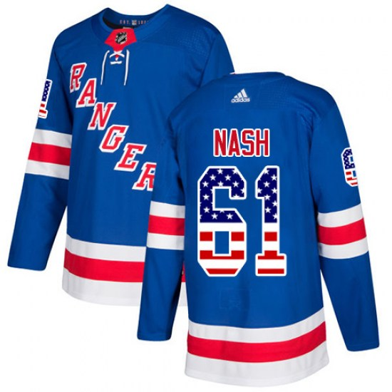 Adidas Rick Nash New York Rangers Youth Authentic USA Flag Fashion Jersey - Royal Blue