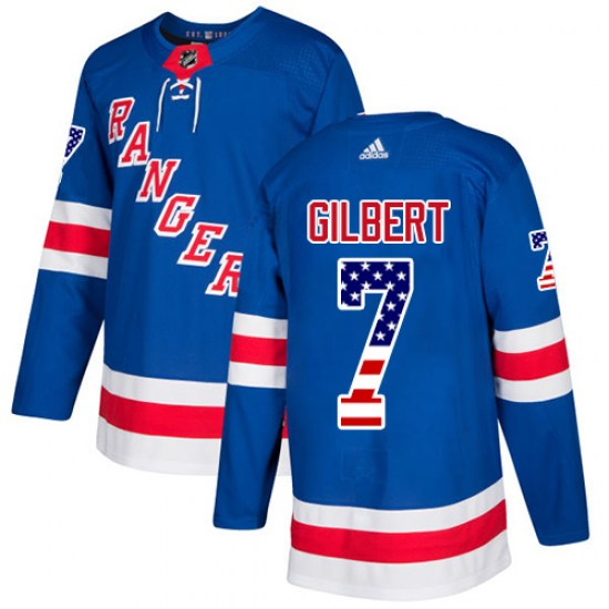 Adidas Rod Gilbert New York Rangers Authentic USA Flag Fashion Jersey - Royal Blue