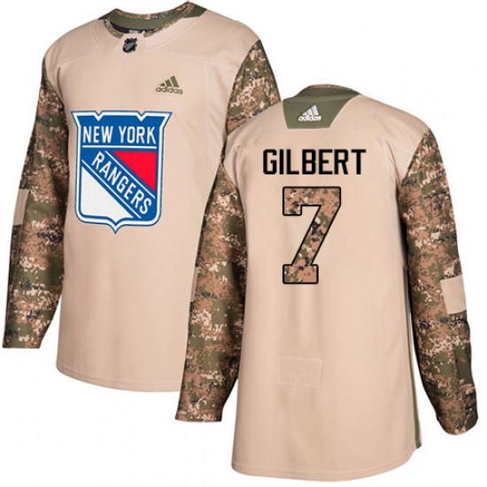 Adidas Rod Gilbert New York Rangers Youth Authentic Veterans Day Practice Jersey - Camo