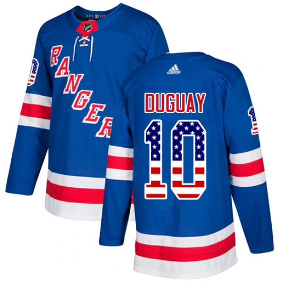 Adidas Ron Duguay New York Rangers Authentic USA Flag Fashion Jersey - Royal Blue
