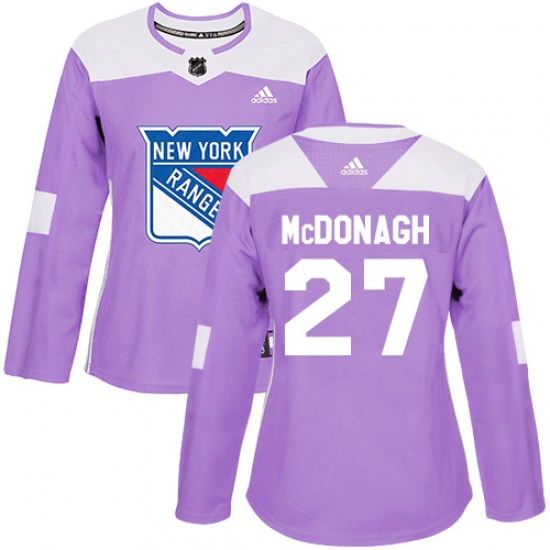 Adidas Ryan McDonagh New York Rangers Women's Authentic Fights Cancer Practice Jersey - Purple