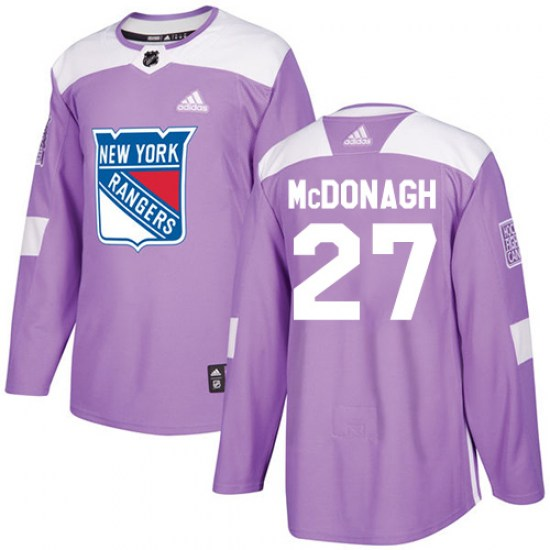 Adidas Ryan McDonagh New York Rangers Youth Authentic Fights Cancer Practice Jersey - Purple