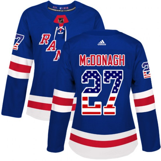 Adidas Ryan McDonagh New York Rangers Women's Authentic USA Flag Fashion Jersey - Royal Blue