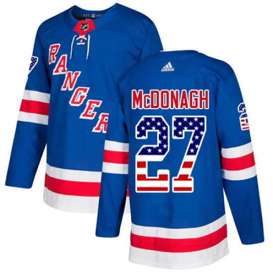 Adidas Ryan McDonagh New York Rangers Youth Authentic USA Flag Fashion Jersey - Royal Blue