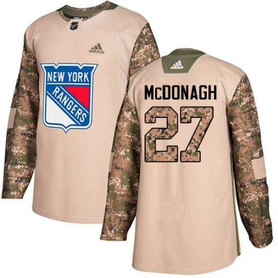 Adidas Ryan McDonagh New York Rangers Youth Authentic Veterans Day Practice Jersey - Camo