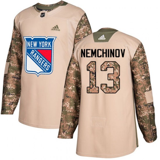 Adidas Sergei Nemchinov New York Rangers Youth Authentic Veterans Day Practice Jersey - Camo