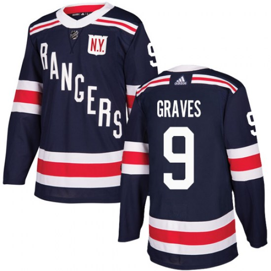 Adidas Adam Graves New York Rangers Authentic 2018 Winter Classic Jersey - Navy Blue