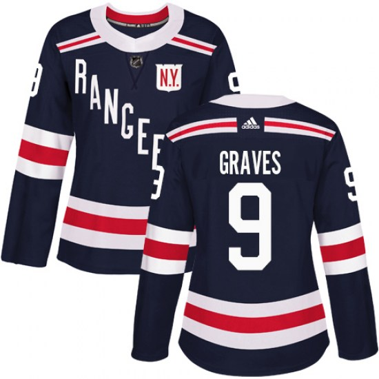 Adidas Adam Graves New York Rangers Women's Authentic 2018 Winter Classic Jersey - Navy Blue