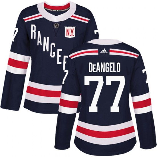 Adidas Anthony DeAngelo New York Rangers Women's Authentic 2018 Winter Classic Jersey - Navy Blue