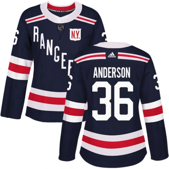 Adidas Glenn Anderson New York Rangers Women's Authentic 2018 Winter Classic Jersey - Navy Blue