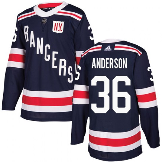 Adidas Glenn Anderson New York Rangers Youth Authentic 2018 Winter Classic Jersey - Navy Blue
